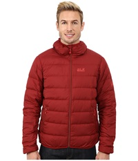 Jack Wolfskin Helium Down Jacket Dried Tomato Men's Coat Red