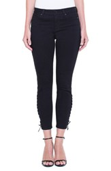 Liverpool 'S Jeans Company Alyssa Lace Up Crop Skinny Jeans Black Rinse