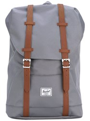 Herschel Supply Co. Double Straps Foldover Backpack Women Polyester Polyurethane One Size Grey