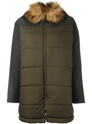 Bellerose Padded Mid Coat Green