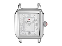 Michele 33Mm X 35Mm Deco Madison Diamond Dial Silver Silver Watches