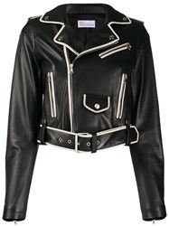 Red Valentino Contrasting Piping Cropped Jacket 60