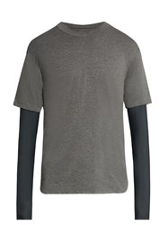 Satisfy The Long Distance Layered T Shirt Grey