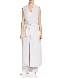 Dkny Pure Long Belted Trench Vest Cement