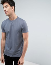 Asos T Shirt In Blue With Crew Neck Condensation