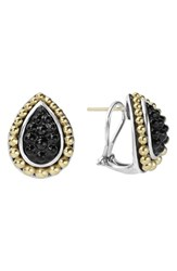 Lagos Women's 'Black Caviar' Stud Earrings Silver Gold Onyx