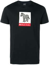 Paul Smith Ps By Printed T Shirt Black