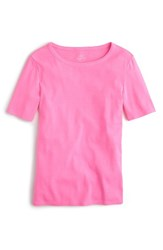 J.Crew Women's New Perfect Fit T Shirt Neon Brilliant Azalea