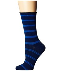 Richer Poorer Alia Navy Blue Women's Crew Cut Socks Shoes Multi
