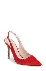 Kate Spade Women's New York Lillian Slingback Pump Poppy Red
