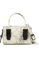 Opening Ceremony Lele Marble Effect Leather Shoulder Bag White