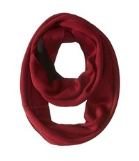 Calvin Klein Two Tone Double Face Infinity Port Black Scarves Red