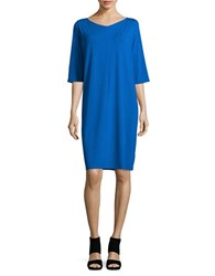 Eileen Fisher Three Quarter Sleeve Shift Dress Catalina