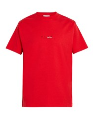 1017 Alyx 9Sm Logo Print Recycled Cotton Blend T Shirt Red