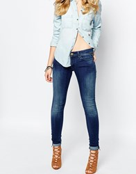 Replay Luz Mid Rise Skinny Jean Blue