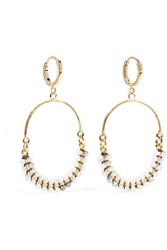 Isabel Marant Gold Tone Horn Earrings One Size