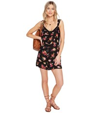 Lucy Love Easy Livin Overall Heirloom Rose Women's Overalls One Piece Black