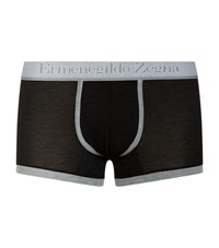 Zegna Stripe Modal Trunks Male Black