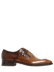 Harris Croc Embossed Leather Oxford Shoes