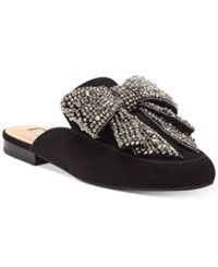 Inc International Concepts Women's Gannie Mules Created For Macy's Women's Shoes Black Bow
