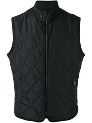 Salvatore Ferragamo Quilted Gilet Men Polyester 56 Blue