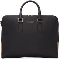 Burberry Black Leather Horton Briefcase