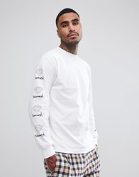 Diamond Supply Co. Long Sleeve T Shirt With Sleeve Prints White