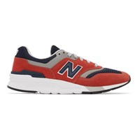 New Balance Red And Navy 997H Sneakers
