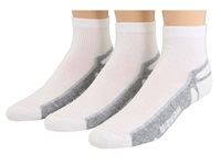 Wigwam Ironman Thunder Pro Quarter 3 Pair Pack White Quarter Length Socks Shoes