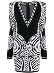 Balmain Knitted Geometric Pattern Dress 60