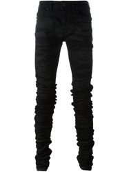 Diesel Black Gold Distressed Skinny Jeans