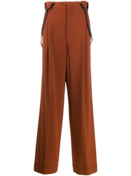 Jean Paul Gaultier Vintage Suspender Trousers Brown