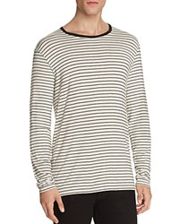 Atm Anthony Thomas Melillo Striped Slim Fit Long Sleeve Tee Marble Black Combo