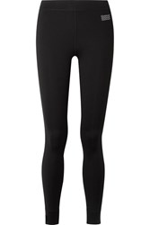 Monreal London Athlete Striped Stretch Leggings Black