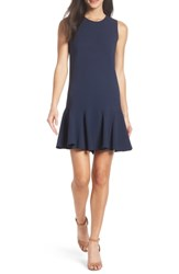 Charles Henry Gored Tank Dress Navy