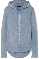 Atm Anthony Thomas Melillo Cotton Terry Hooded Top Blue
