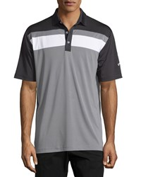 Callaway Colorblock Short Sleeve Polo Shirt Caviar Black