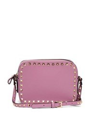Valentino Rockstud Camera Leather Cross Body Bag Pink