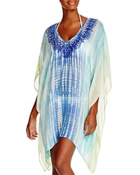 Trina Turk Tie Dye Tunic Swim Cover Up Turqoise