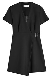 Carven Virgin Wool Blend Wrap Dress