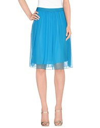 Compagnia Italiana Skirts Knee Length Skirts Women Azure