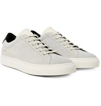 Common Projects Achilles Retro Leather Trimmed Suede Sneakers White