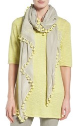 Eileen Fisher Women's Organic Cotton Pompom Scarf