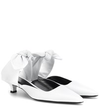 The Row Coco Leather Mules White