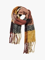 Fat Face Boucle Stripe Scarf Pink