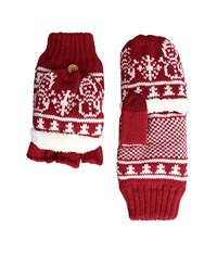 San Diego Hat Company Kng3476 Snowflake Pop Over Gloves Red Extreme Cold Weather Gloves
