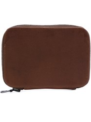 Isaac Reina Zip Mini Wallet Brown