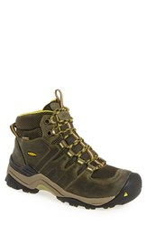 Keen Men's 'Gypsum Ii' Waterproof Hiking Boot Green Nubuck Leather