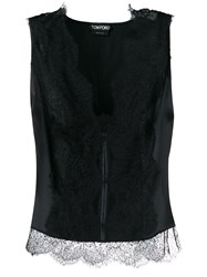 Tom Ford Stretch Lace Tank Top Black