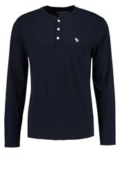 Abercrombie And Fitch Long Sleeved Top Navy Dark Blue
